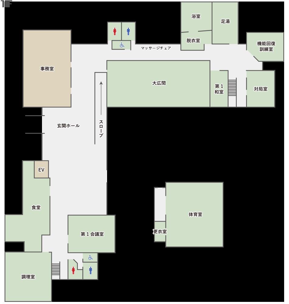 枚方市総合福祉センター : 1階フロアマップ
